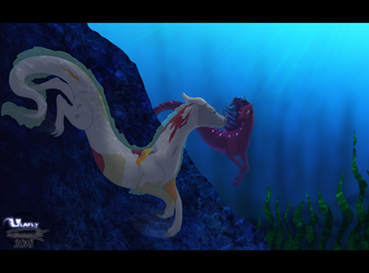 * Underwater Encounter * by Lilafly
