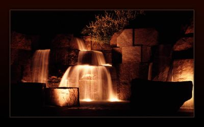 Water Falling At Night by nsfbr