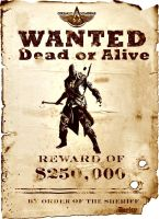 Assassin's Creed III - Connor Wanted by josetemg