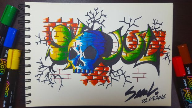 Graffiti with new markers by TombstoneCC