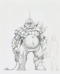 Big dude sketch by CID228