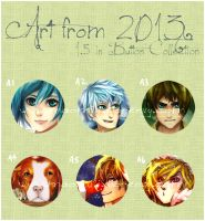 [Buttons] Art of 2013 by kittyalyst