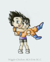 Gohan and Videl Chibies by COOKEcakes