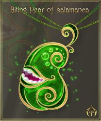 Biting Pear of Salamanca Amulet by Rittik-Designs