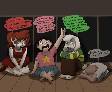 babies in therapy that didn't deserve it by Channydraws