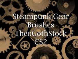 Steampunk Gear Brushes by TheoGothStock