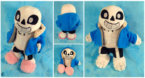 Sans the Skeleton Plush Commission by DizzieFox