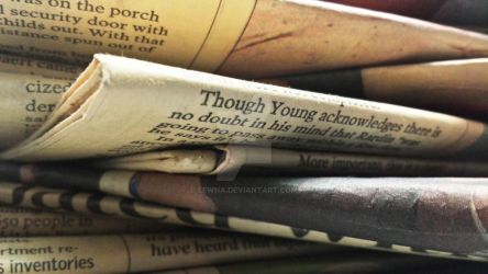 Stack of Old Newspapers by Lewna