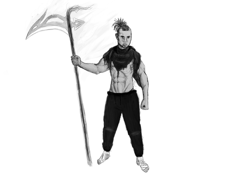 Thor Scythe WIP by CobaltTheLioness