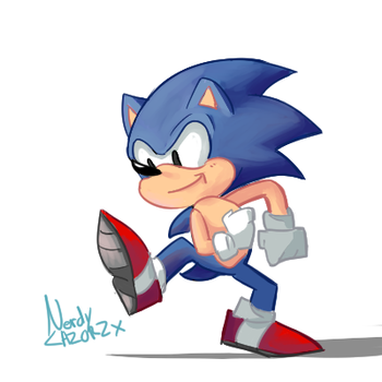 He's about to go really fast by NerdyLazorz