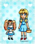 Alice Cream and Roll Dorothy by ninpeachlover
