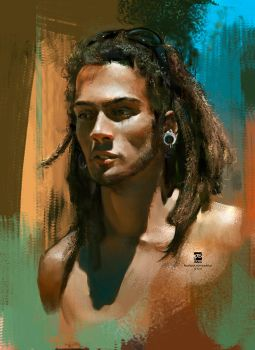 20160123 Male Rasta Portre Psdelux by psdeluxe