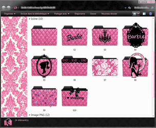 Barbie Folders Icons by mllebarbie03
