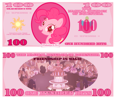 Pinkie Pie 100 Bits Bill by cradet