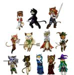 RPG Cats by purenightshade