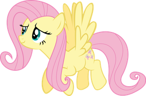 Fluttershy Flying Vector by AlmostFictional
