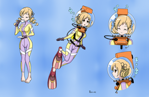 Mami Tomoe LAMA Scuba - Color Commission by The-Sakura-Samurai