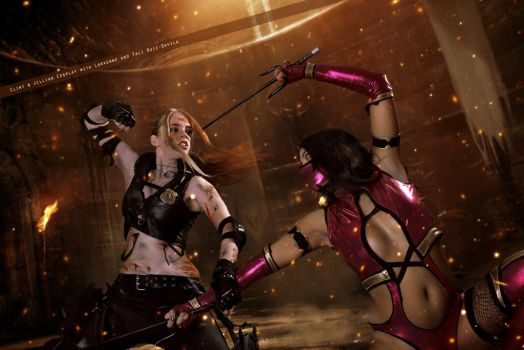 Sonya Blade and Mileena - Mortal Kombat by FioreSofen
