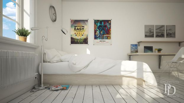 2K bedroom - 3DS Max - Vray by Skeppnerf