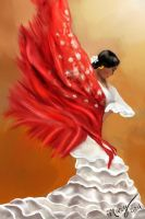 Flamenca con manton. Freebie by IrysArt