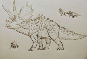 hypo-triceratops by Gustavolamaral