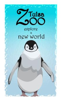 zoo poster series - penguin by uhhotdog