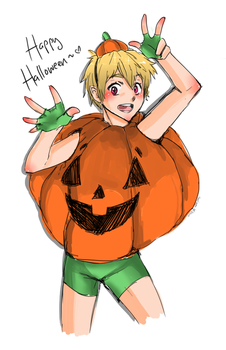 happy halloweeeeeenn~ by Niinkikashu