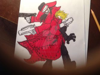 Vas the stampede and ALUCARD Blood brothers by Chrisbellah