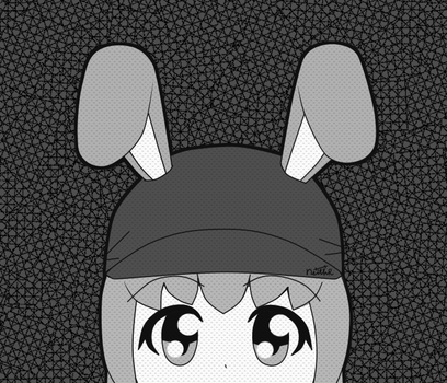 Kelin Peeking (Grayscale) by Xothex