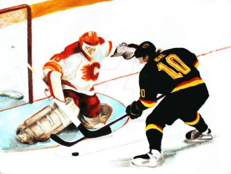 'Pavel Bure' by HockeyPaintings