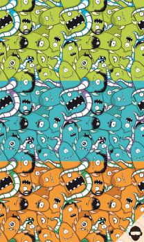 monster pattern by Loek93
