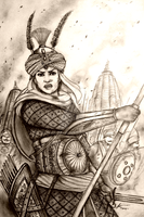 Maharani Indira of Jaganavanshi Raj (India/Rajput) by Gambargin