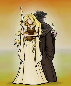 Eowyn and Grima by Valoscope