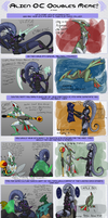 Aliens Doubles meme with Veera and Choy by Riyami