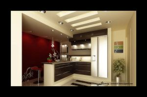 Kitchen Interior by mohamedmansy