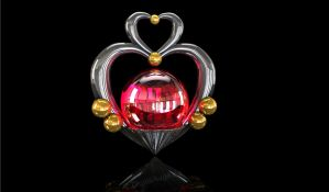 Sailor Pluto Garnet Orb / Talisman 3D (dark) by digitalAuge