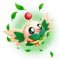 PvZH/Pokemon Crossover: Rowlet as Spudow by JackieWolly