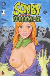 Scooby Apocalypse Daphne Zombie Cover Art by Kez-the-artist