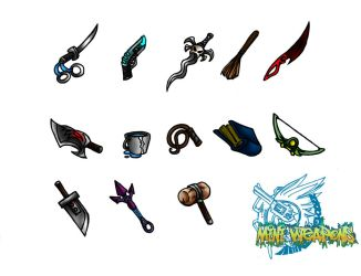 Mini Weapons by Fanglicious