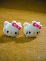 Hello kitty studs by FinsternisSan