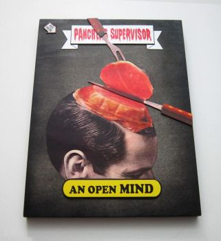 An Open Mind - Wooden Panel Trading Card by PancreasSupervisor