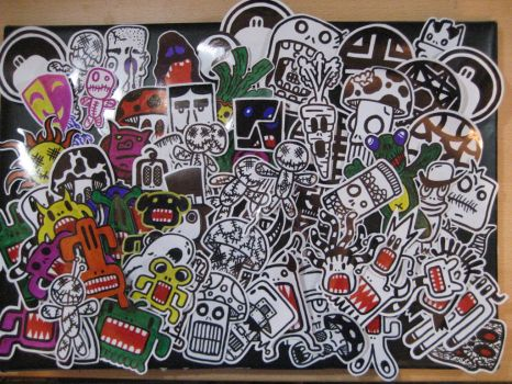 Sticker Attack by Fobiart