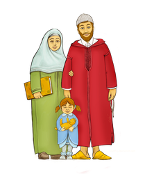 Muslim family by taoufiq