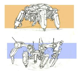 Mech Insect Droid Transport by vicky3