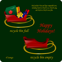 Holiday Recycle Bins by 47songs