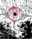Bloody eyeball by casualGEE