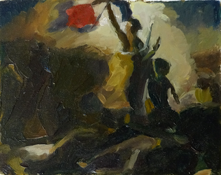 Study after Delacroix' Liberty Leading the People by sergey-ptica