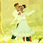 Tiana and Naveen for Valentine's day by GFantasy92