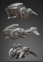 Hoverbike 3D WIP by ZackF