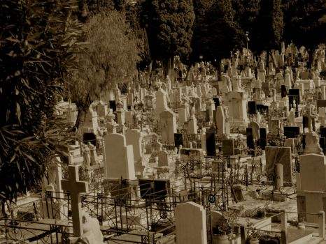 A Sea of Tombstones by DeadPharaoh
